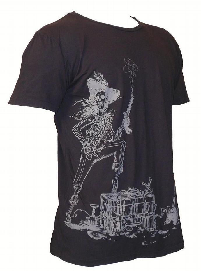 Men's Organic Pirate Shirt in Charcoal