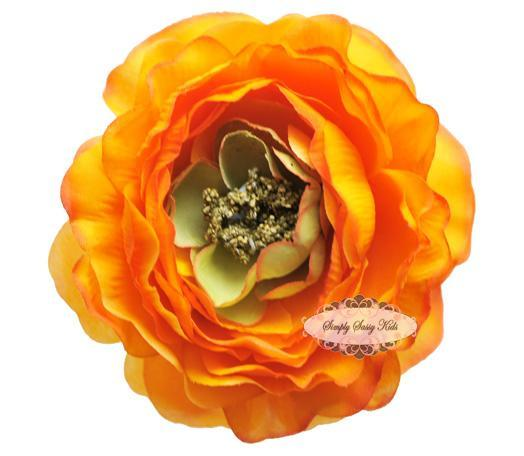 ~  New ~ ORANGE 4 inch Ruffle Ranunculus - Other Sizes Available
