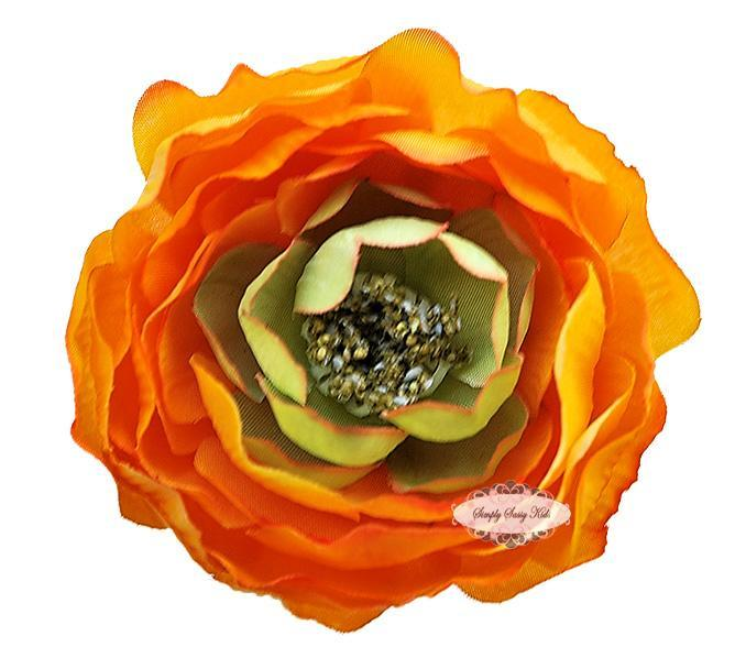 ~  New ~ ORANGE 3 inch Ruffle Ranunculus - Other Sizes Available