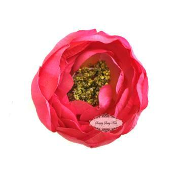 ~  New ~ PINK 2 inch Ruffle Ranunculus - Other Sizes Available