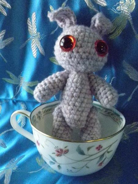Lavender Bunny amigurumi crochet plush