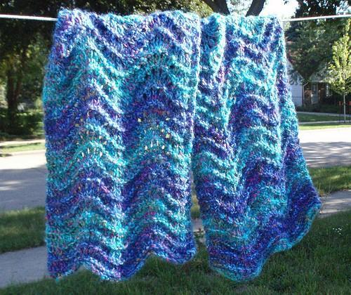 Lavender Teal Ripple Wrap