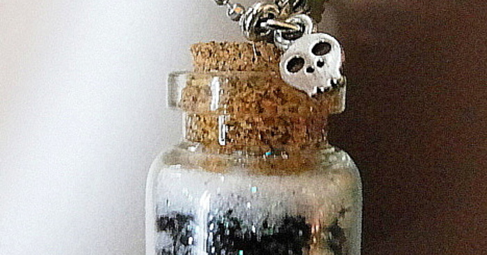 Original bottle necklace ashes  1 new