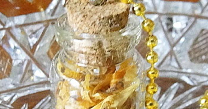 Original bottle necklace calendula cover ebay  1 etsy
