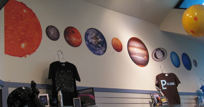Original big solar system at lowell observatory gift shop