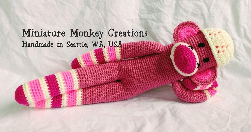 Original pretty pink monkey banner zibbet