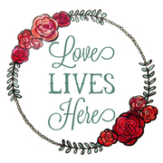Profile love lives here round logo